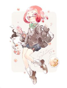 #Splatoon #Inkling #Dessin #Fanart とま #JeuxVideo #Manga
