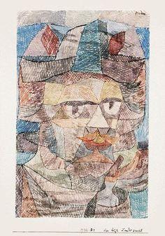 'der letzte von dem `mercenaries`', wasserfarbe von Paul Klee (1879-1940, Switzerland)