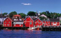 Lunenburg, Nova Scotia, claims to be the prettiest town in Canada for its picturesque waterfront churches and coastal charm.