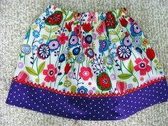 Kaori Floral Skirt ( 12 mos, 18 mos, 24 mos, 2T, 3T, 4T, 5, 6, 7). $15.00, via Etsy.