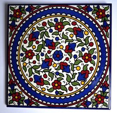 armenian-tile-floral-color-6X6 by Pangea Home Collections