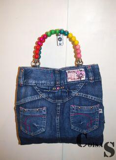 recicled denim skirt