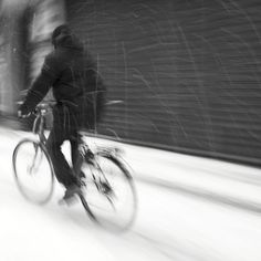 Snow bike. Square picture, original size 50x50 cm, B/W print on Fine Art Paper, 10 copies available, numbered and signed.  $ 40 - € 32 plus shipping Ask for it at: thelightbox.it@gmail.com