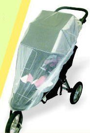 Jeep Mosquito and Bug Net for Jogger Stroller - http://activelivingessentials.com/baby-essentials/strollers/jeep-mosquito-and-bug-net-for-jogger-stroller