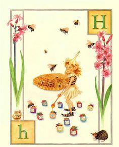 H...Honey...Hyacinth...Hamster...Hat... by Lauren Mills Elfabet