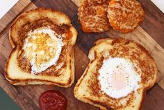 Eggs in a Grilled Cheese Nest  (well... I don't love eggs, but there are some in my household who will love this...)