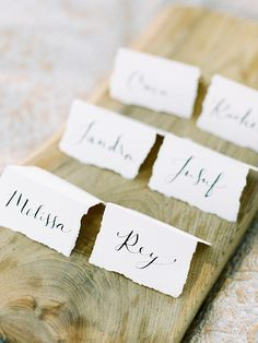 Deckle edge escort or place cards