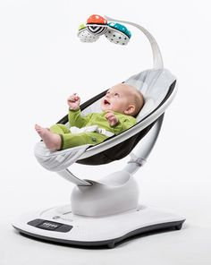 The mamaRoo® Classic Infant Seat from bounces and sways just like you do when you're comforting your baby. Provide your baby with realistic rocking and swaying comfort with the mamaRoo® Classic Infant Seat. Baby Bouncer, Baby Needs, Baby Love, 4moms, Baby Shower Gifts, Baby Gifts, Diaper Bag, Baby Tech, Chairs