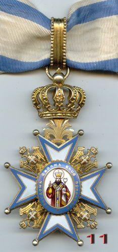 Знак Ордена Св. Саввы 3 класс 2 тип