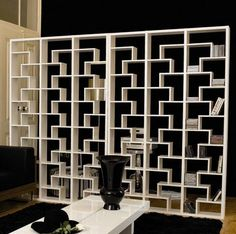 How cool is this bookcase room divider?