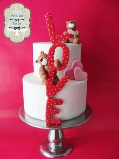 Love, bears cake  by #miraquetarta