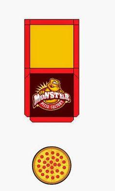 Relógio  Caixas de Leite   Embalagens  Pizza Mo...