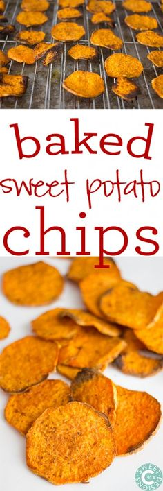 Baked Sweet Potato Chips - a healthier alternative to store-bought potato chips. | #sweetpotato #recipe