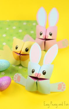 Adorable Printable Easter Cootie Catchers - easy peasy to turn into Fire Dogs!