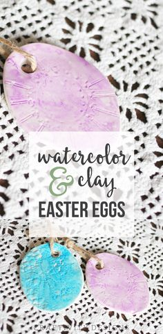 How to Make Watercolor Easter Eggs, How to make watercolor and clay easter eggs. An Easter craft that you can complete with the kids. by @CraftivityD