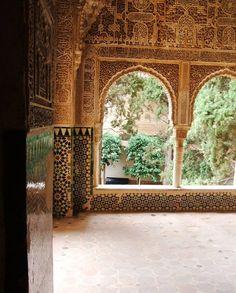Amazing intricacy at The Alambra, Granada, Spain