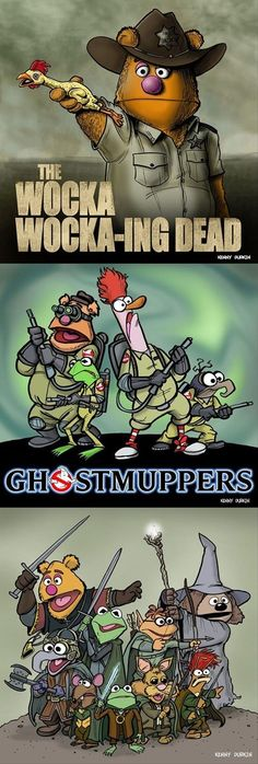 The Muppets Invade Sci-Fi and Fantasy Series – Cheezburger Die Muppets erobern Science-Fiction- und Fantasy-Serien – Cheezburger Jim Henson, Die Muppets, Beaker Muppets, Science Fiction, Arte Nerd, The Ghostbusters, Fraggle Rock, Comedy, Geek Out