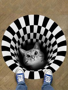 I found this amazing 3D Illusion Doormat Cat Pattern Door Floor Mat Non-slip Black White Doormat Decor Carpet with AU$9.99,and 14 days return or refund guarantee protect to us. --Newchic Porch And Balcony, Rich Money, Home Carpet, Make Money Now, Cat Pattern, Doormat, Floor Rugs, Clothes For Sale, Illusions