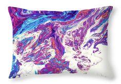 Jenny Rainbow Fine Art Photography Throw Pillow featuring the photograph Far Galaxies 5. Abstract Fluid Acrylic Painting by Jenny Rainbow Designer Pillow, Pillow Design, Galaxy 5, Floor Pillows, Throw Pillows, Fluid Acrylics, Pillow Sale, Poplin Fabric, Fine Art Photography