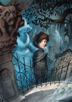 The Illustration Master Class Produces New Art for Neil Gaiman's The Graveyard Book by Scott Brundage Illustration Story, Halloween Illustration, The Graveyard Book, Creepy Pictures, Spiritus, American Gods, Neil Gaiman, Halloween Art, Christmas Art