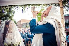 A Rosh Hashana themed Jewish wedding with a Suzanne Neville bride in the UK | Smashing the Glass Jewish wedding blog | lavender florals and elegant details