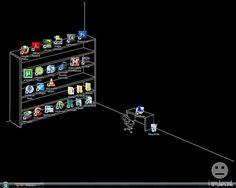 Creative Desktop Wallpaper Makes Good Use of Icons - TechEBlog
