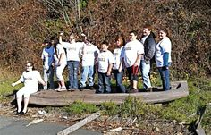 Klamath, Northern California, Dounia Project Students on a Yurok Canoe