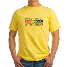 Royal Lion Yellow TShirt Prays Well With Others Peace Symbol  XL *** BEST VALUE BUY on Amazon