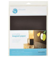 Silhouette America - MAGNET PAPER Add your own personality to your fridge magnets using the printable magnet paper. With the Silhouette Print & Cut feature, you can make all kinds of custom magnets from photos and other designs.