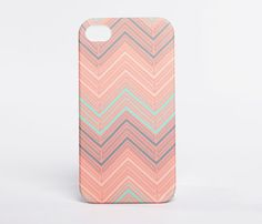 Soft Chevron iPhone Case  by The Velvet Owl Design Studio
