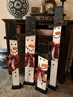 Scrap Wood snowman - made by Cherie