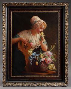 Arte Antiques & Fine Art Gallery - A Large 19th c. Italian Oil on canvas Signed: Cornelli