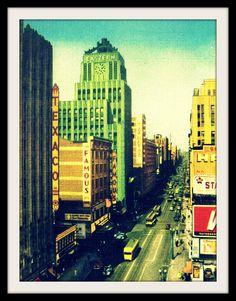 BROADWAY 8x10 photo Los Angeles CALIFORNIA