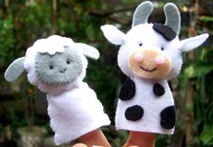 Digital Pattern: Farm Friends Felt Finger Puppets