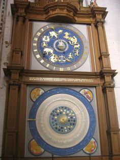 Beautiful astrological clock in Lubeck, Germany