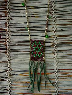 APACHE PENDENT IN BROWN AND GREEN   Flickr - Photo Sharing!