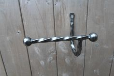 Wrought Iron (Forged Steel) Right Side Toilet Roll Holder +