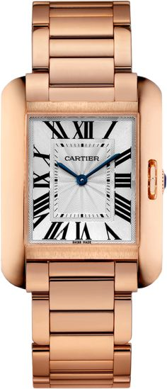 ee44bfc424db Cartier Tank Anglaise W5310041 Pink (Rose) Gold Watch