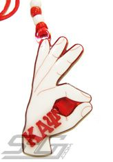 Kappa Alpha Psi Hand Sign Tiki Necklace  Item Id: PRE-KAYHAND-T1024  Price:  $29.00