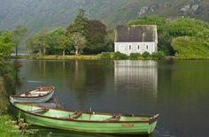 Rowing boats at Gougane Barra, Co. Cork