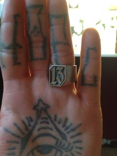 Signetring 925 Sterling Silver  Lucky Number 13 Customorder