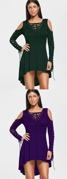 Cold Shoulder Lace Up Tee Dress 29 Insanely Cute Fashion Ideas To Not Miss Today – Cold Shoulder Lace Up Tee Dress Source Sexy Outfits, Dress Outfits, Fall Outfits, Dresses Dresses, Summer Dresses, Cute Fashion, Style Fashion, Fashion Trends, Dress Clothes For Women