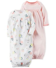 Carter's Baby Girls' 2-Pack Little Blooms Core Gowns