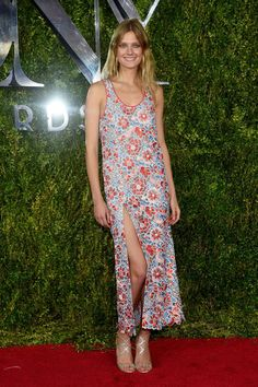 Constance Jablonski in Wes Gordon. See what everyone wore to the 2015 Tony Awards.