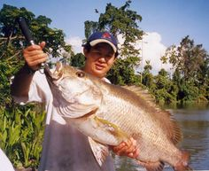 Wild river fishing, Port Moresby, Papua New Guinea Photo