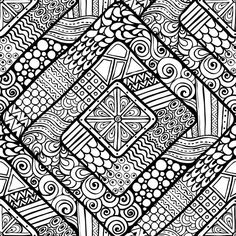 Geometric Diamond III Doodle Art Drawing, Zentangle Drawings, Mandala Drawing, Zen Doodle, Zentangles, Drawing Ideas, Doodle Patterns, Zentangle Patterns, Art Patterns