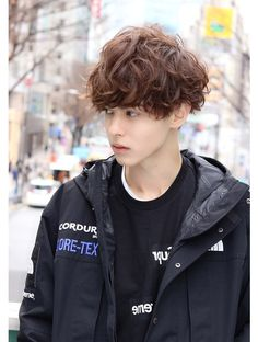 Tomboy Hairstyles, Permed Hairstyles, Pop Hair, Mens Perm, Fashion Books, Haircuts For Men, Beautiful Boys, Short Hair Styles, Hair Makeup