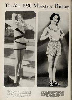 The new 1930 models of bathing suits