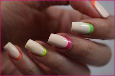 Ruffian Manucure, Version Néon! ~ Didoline's Nails http://www.didolines-nails.com/2013/08/ruffian-manucure-version-neon.html