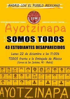 """""""Marcha de la Dignidad, Madrid"""". FUE EL ESTADO: #YaMeCansé #MéxicoEstadoFallido #MéxicoViolento #Impunidad #Represión #DDHH #Ayotzinapa #Iguala #Guerrero #México #Normalistas #AyotzinapaSomosTodos #JusticiaParaAyotzinapa #JusticeForAyotzinapa #YoSoyAyotzinapa #AcciónGlobalPorAyotzinapa #Artículo39RenunciaEPN #EPN #20NovMx #CriminalizaciónDeLaProtesta #Corrupción #PRI"""